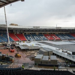 Hampden Park undergoes transformation for Glasgow 2014
