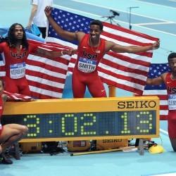 USA break world indoor relay record in Sopot