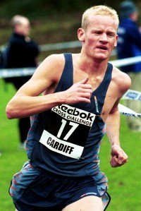 Ed Prickett running Cardiff in 2002