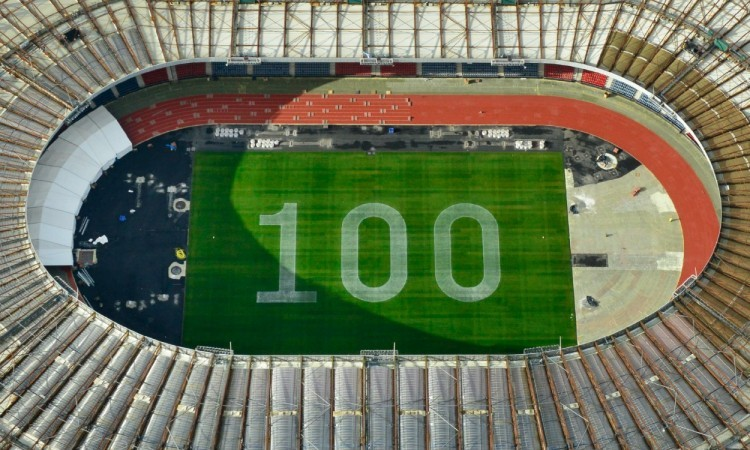 Hampden Park 100 days to go infield (Credit: Glasgow 2014)