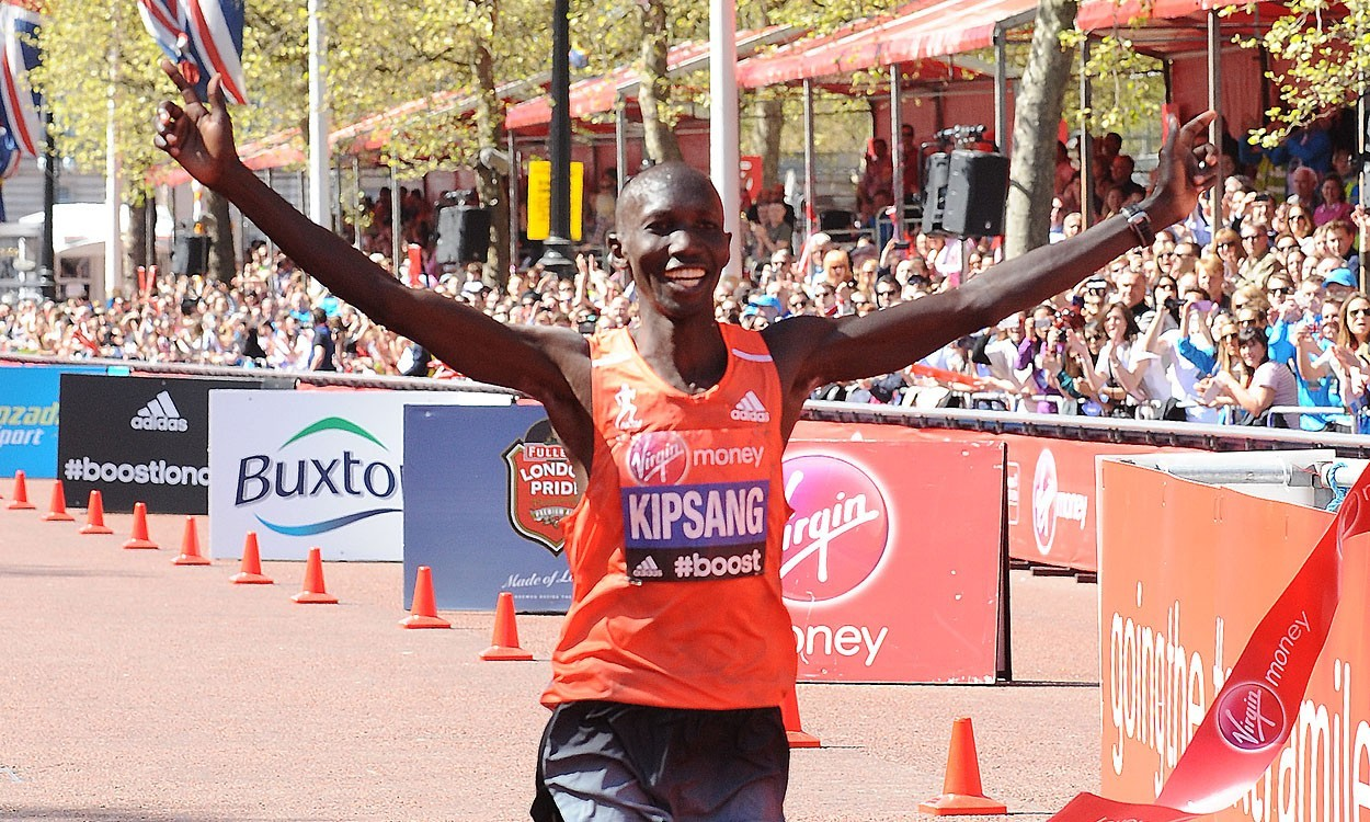 Kipsang rules on roads of London