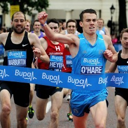 British titles for Chris O'Hare and Alison Leonard at Bupa Westminster Mile
