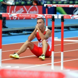 "Andy Turner crashes out after ""schoolboy error"" at Glasgow 2014"