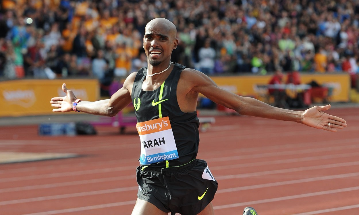 Interview with Mo Farah following two-mile record