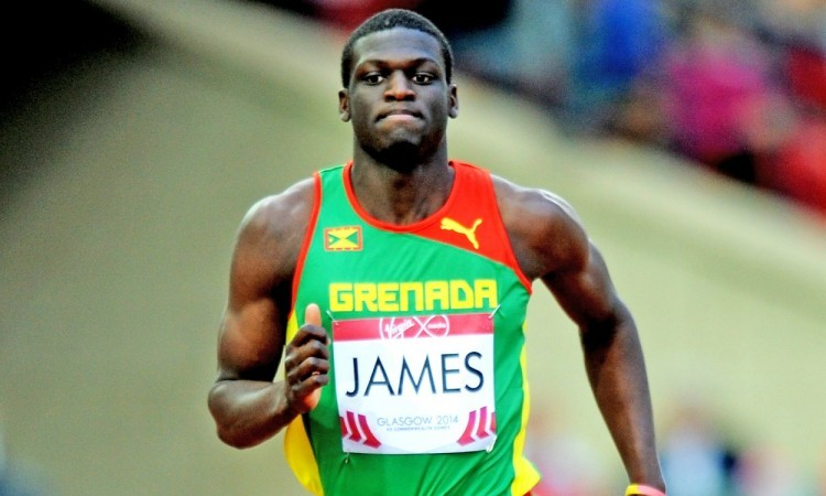Kirani James enjoys crowd support at Sainsbury's Birmingham Grand Prix