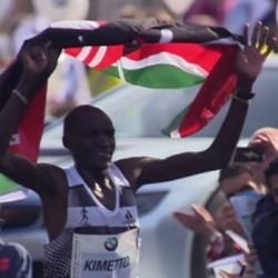 World marathon record for Dennis Kimetto in Berlin