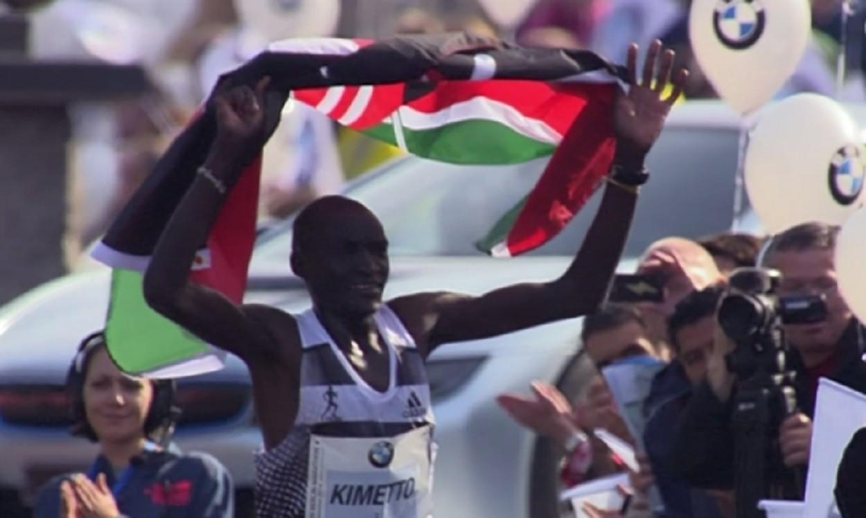 World marathon record for Dennis Kimetto in Berlin