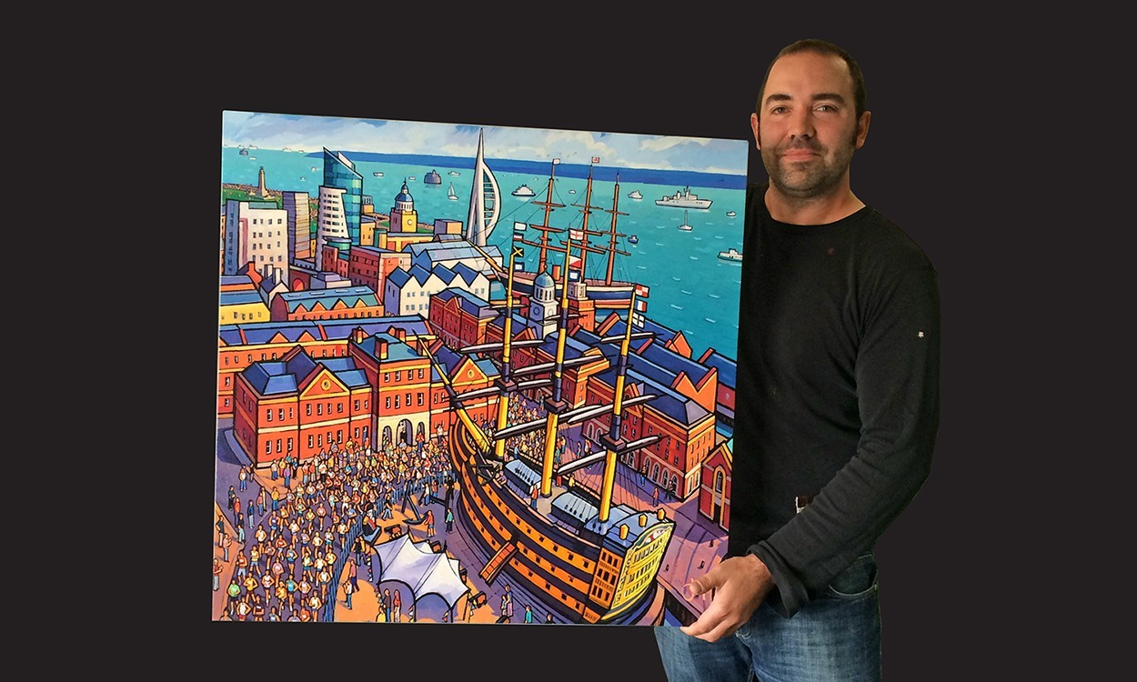 Win a limited edition Bupa Great South Run painting