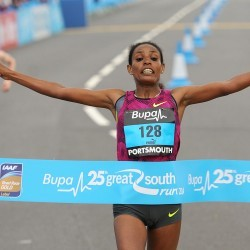 Belaynesh Oljira and James Rungaru win Great South Run