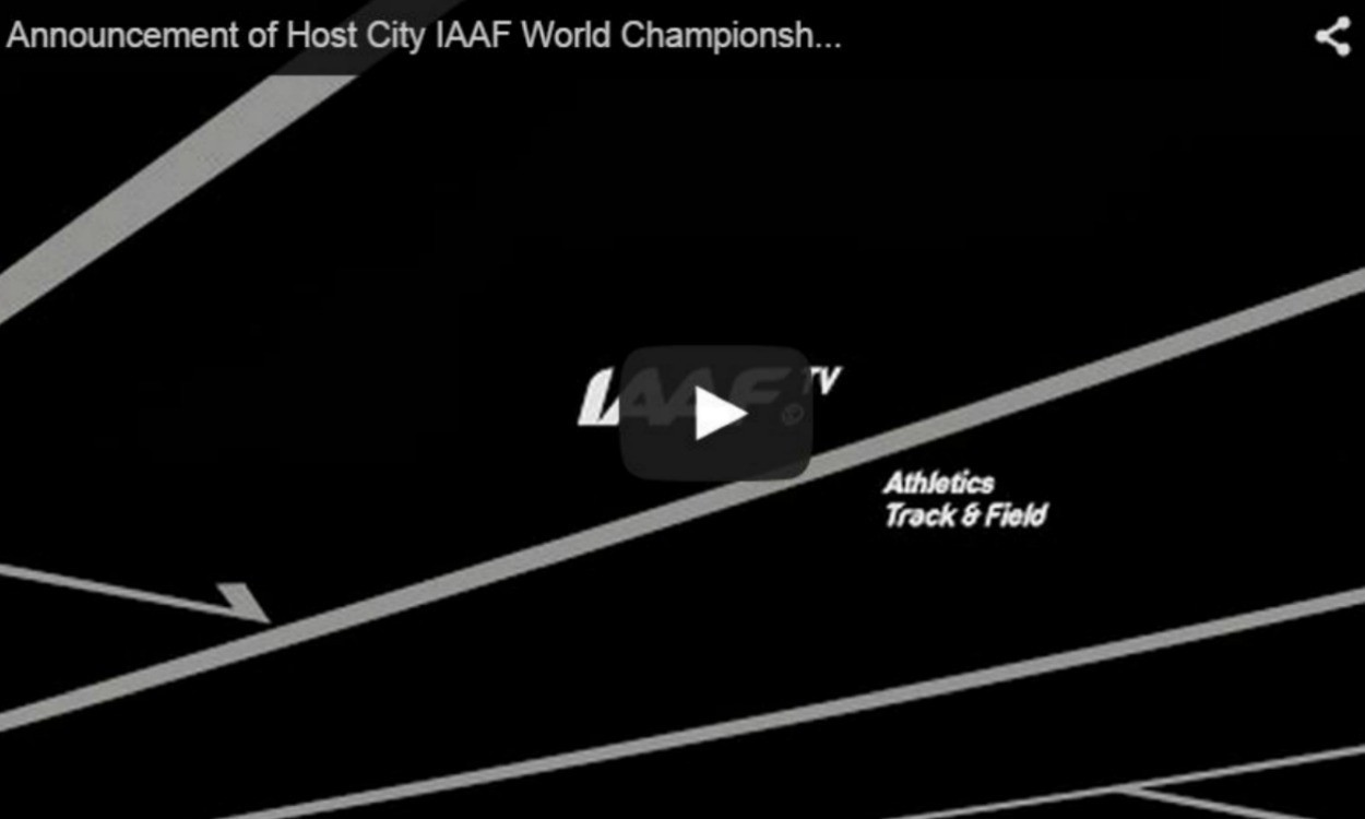 Announcement of 2019 IAAF World Championships host city