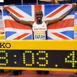 Mo Farah breaks two miles world best in Birmingham