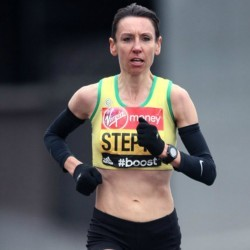 Emma Stepto retains vets title at London Marathon