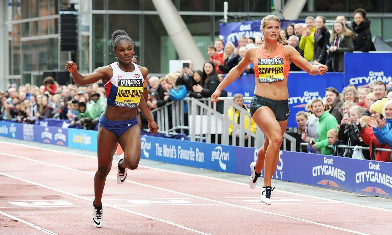 Dina Asher-Smith breaks British 100m record in Hengelo