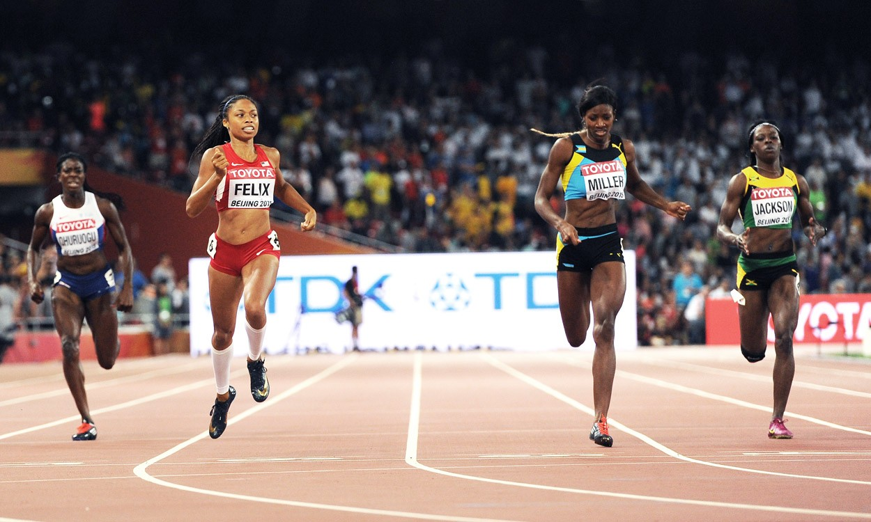 Felix wins the 400m to collect historic ninth world gold in Beijing