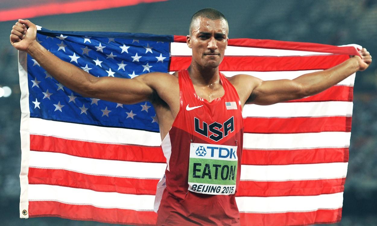 Ashton Eaton scores 9045 to break world decathlon record in Beijing