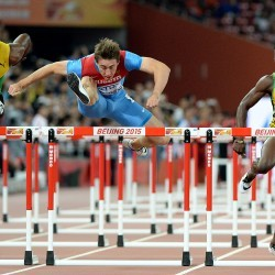 Sergey Shubenkov speeds to sprint hurdles glory