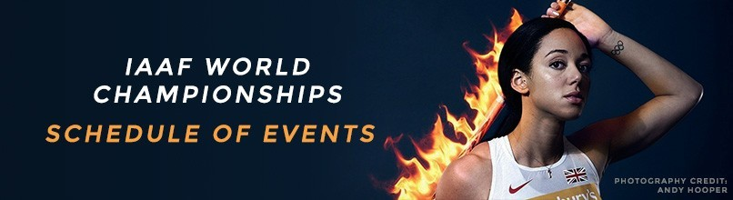 IAAF World Championships - event by event schedule