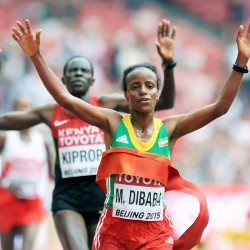 Mare Dibaba wins Ethiopia's first women's world marathon gold