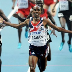 Mo Farah back in Beijing and looking to do the double