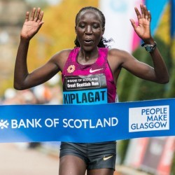 Moses Kipsiro and Edna Kiplagat win Great Scottish Run