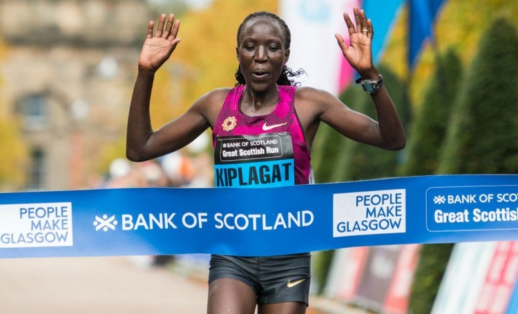 Moses Kipsiro and Edna Kiplagat win Great Scottish Run