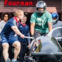 Mark Lewis-Francis on his bobsleigh goal