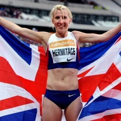 Georgie Hermitage wins European gold with world record run