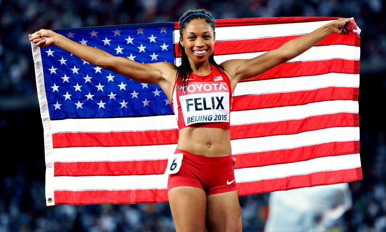 Double vision for Allyson Felix