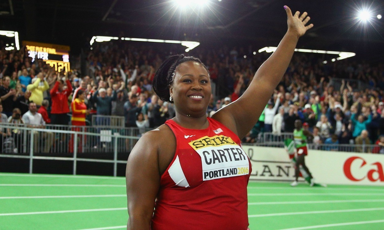 Michelle Carter reflects after dramatic world indoors shot put final