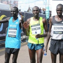 Duncan Maiyo and Grace Momanyi win Brighton Marathon