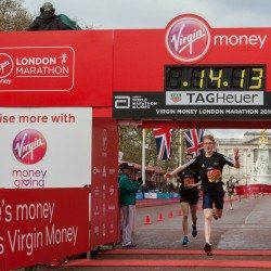 Mortimer and Sinha among London mini-marathon winners
