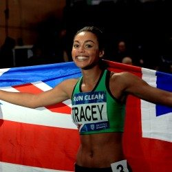 Adelle Tracey, lighting up the track