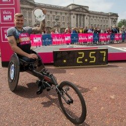 David Weir cracks sub-three barrier at Westminster Mile