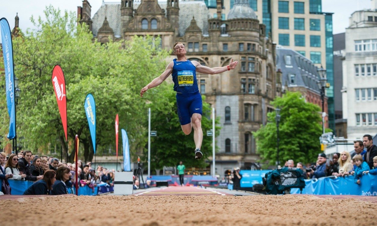 Greg Rutherford jumps Great CityGames record in Manchester