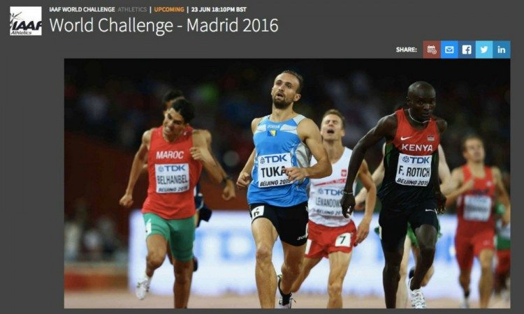 IAAF World Challenge - Madrid live stream