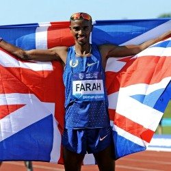 Mo Farah breaks British record at brilliant Birmingham meet