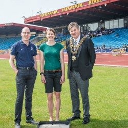 Kelly Sotherton helps launch celebration of Birmingham's athletics history