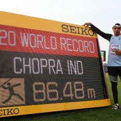 India's Neeraj Chopra breaks world under-20 javelin record