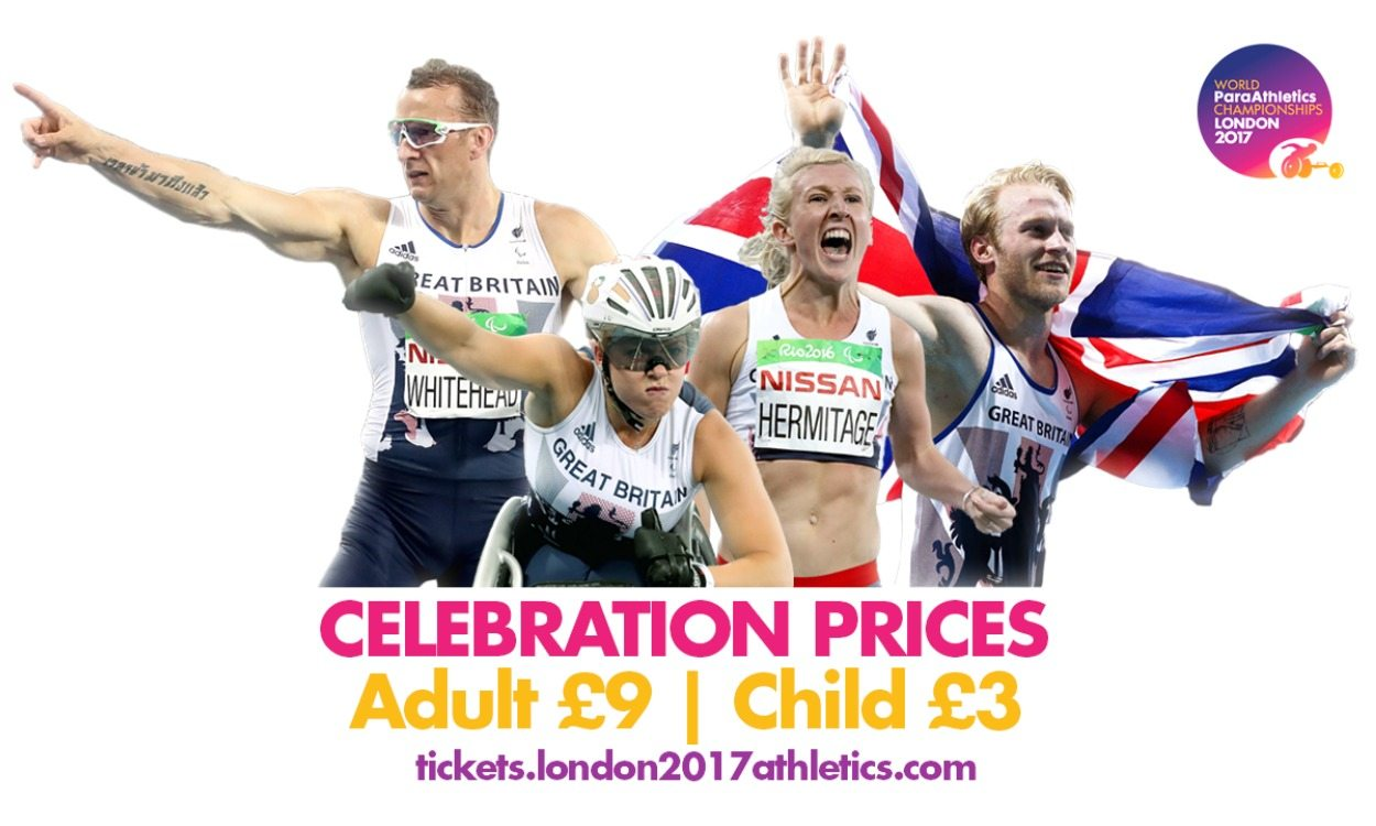 Special World ParaAthletics Championships tickets on sale