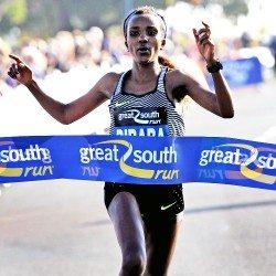 Tirunesh Dibaba and Chris Thompson win Great South Run