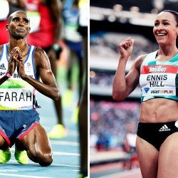 Sir Mo Farah and Dame Jessica Ennis-Hill recognised in New Year Honours