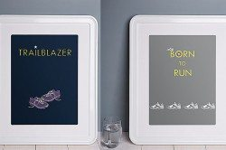 Ginger & French running prints
