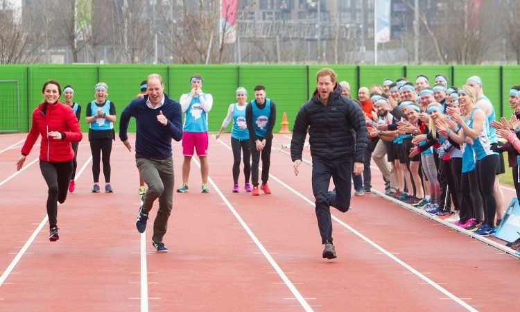 Royals take to the track for Heads Together