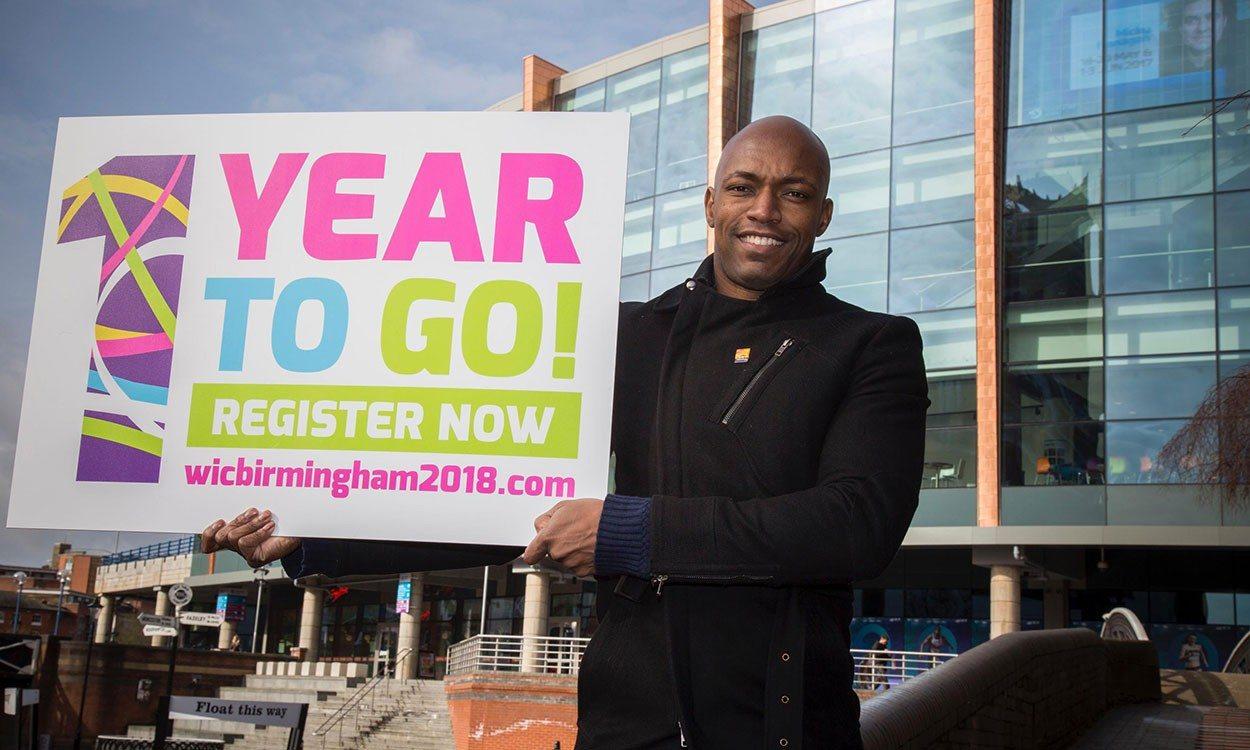 Marlon Devonish helps to mark countdown to Birmingham 2018