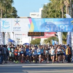 Record-breaking number of runners at OPAP Limassol Marathon GSO