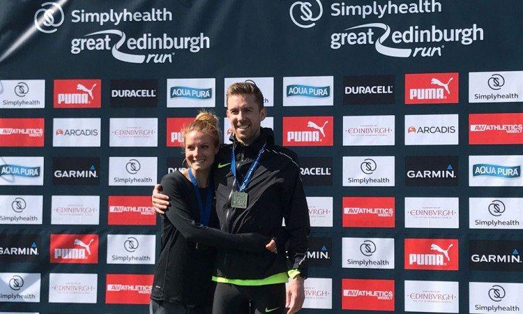 Daniel Wallis and Hillory Wallis win Great Edinburgh Run - weekly round-up