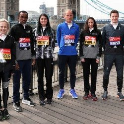 Top British athletes look ahead to London Marathon