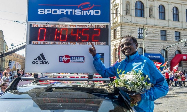 Joyciline Jepkosgei reflects on world record run in Prague