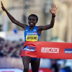 Joyciline Jepkosgei smashes four world records at Prague Half Marathon