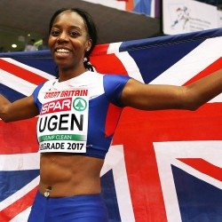Lorraine Ugen has seven metres in her sights